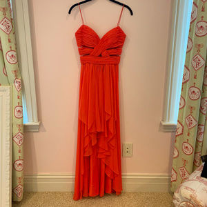 Cache Hight Low Coral Dress